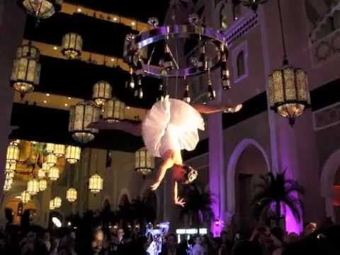 Aerial Bar Tender Champagne Chandelier By Amitraj singh - YouTube
