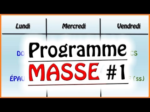 ★ Programme MASSE #1 ★  Musculation -  ksCoaching
