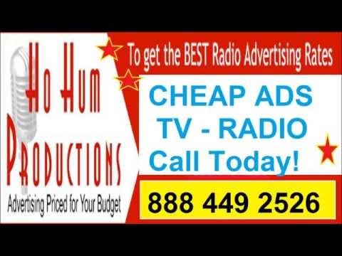 Cheap Television and Radio advertising 888 449 2526 low cpm