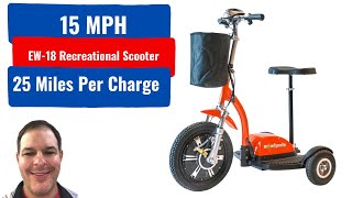 EW-18 Recreational Scooter Goes 15mph