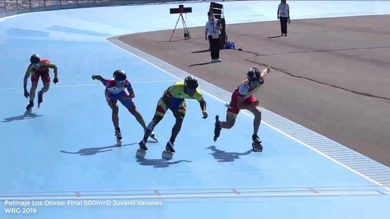 Final 500m+D. Juvenil masculino, World Roller Games Barcelona 2019