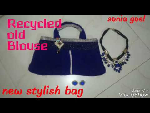 DIY ✂ OLD BLOUSE A NEW STYLE HANDBAG 😊 /TRY THIS