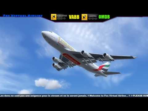 [P3D] EMIRATES B-747✈✈Mumbai✈DUBAI ✈ | Live Stream ] ✈✈ | 23 July 2017