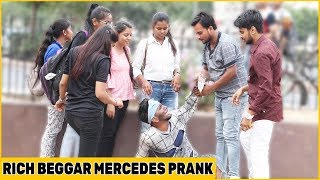 Rich Beggar With Mercedes Prank On Cute Girls😘❤️😘 Ft. Funky Joker | RDS Production
