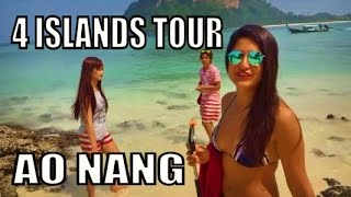 Ao Nang Krabi Thailand. 4 Islands tour by Longtail boat. #Thailand
