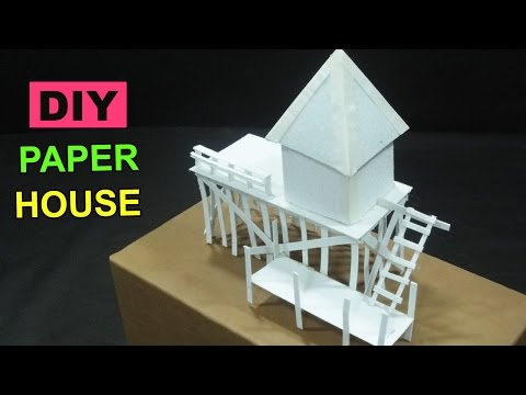DIY Paper House #1 - Crafts ideas