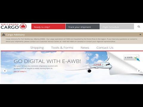 Air Canada Cargo Tracking,Air Canada Air Cargo Tracking Status