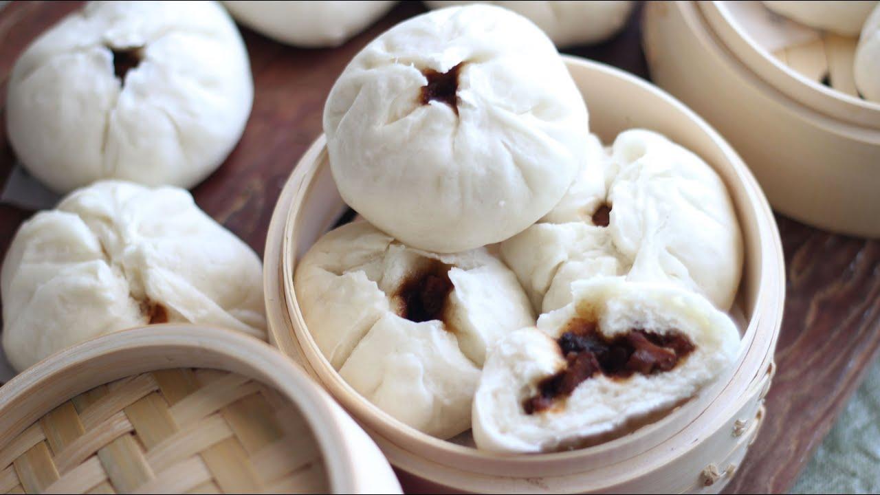 bbq pork steamed buns banh bao nhan xa xiu char siu bao recipe  youtube