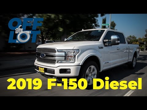 Off the Lot in a 2019 Ford F-150 Diesel Platinum