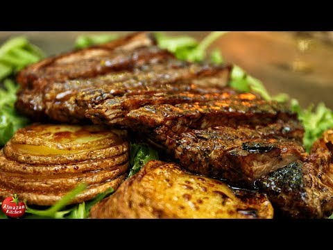 Best Steak and Potatoes! – Forest Cooking ASMR
