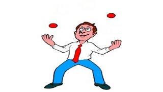 Жонглирование 2 мячами ч.1