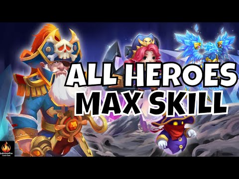 MAXED ALL HEROES Castle Clash Skill 14 Destiny 80