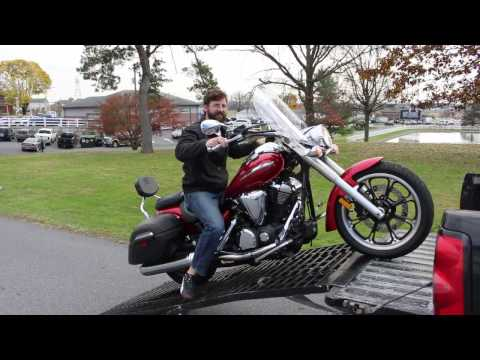 How To Load A Motorcycle Into A Truck