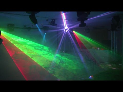 Home Disco Lights Synchronized To Music 5, Scanners, Moving Heads, Lasers, DMX Controlled