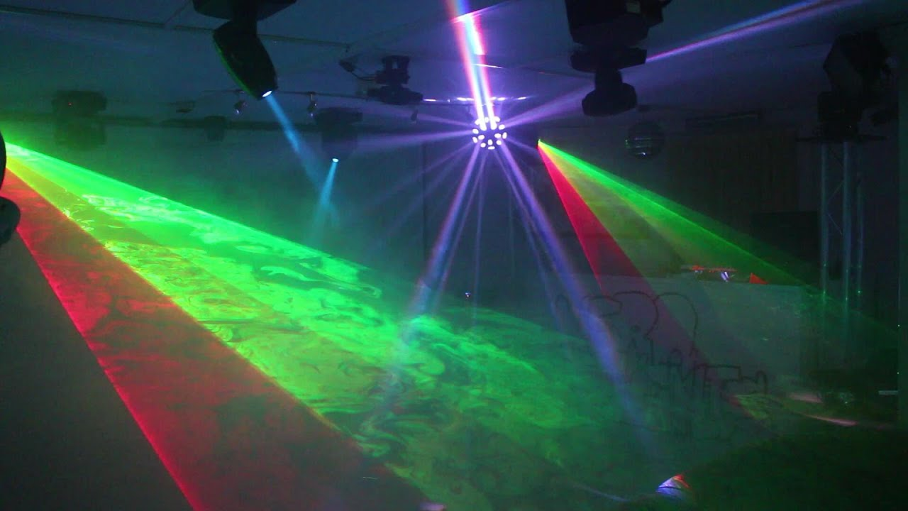 Home Disco Lights Synchronized To Music Scanners Moving Heads