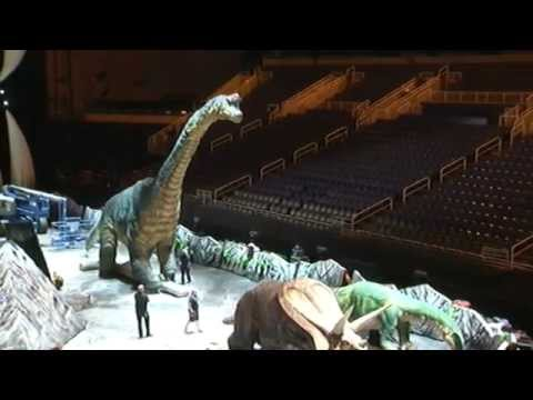 Testing the dinosaurs at Walking With Dinosaurs
