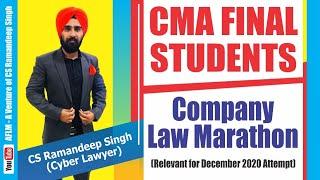 CMA FINAL LAW MARATHON BY CS RAMANDEEP SINGH(CYBER LAWYER)