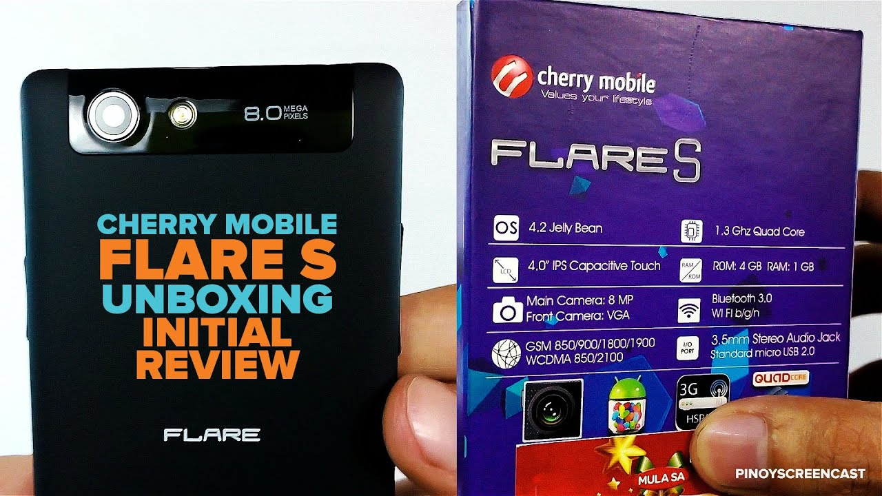 Cherry mobile flare s unboxing and initial review 1 3ghz mt6582 quad