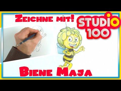 Zeichnen lernen mit Maja! ✿ Zeichne die Biene Maja
