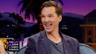 Benedict Cumberbatch Gets Jacked w/ Coffee & Skittles