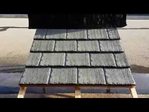 Polysand Slate Roofing Tile, Walkaround video, Light Grey Color.