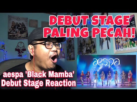 aespa 'Black Mamba' Debut Stage REACTION! KEREN BANGET!