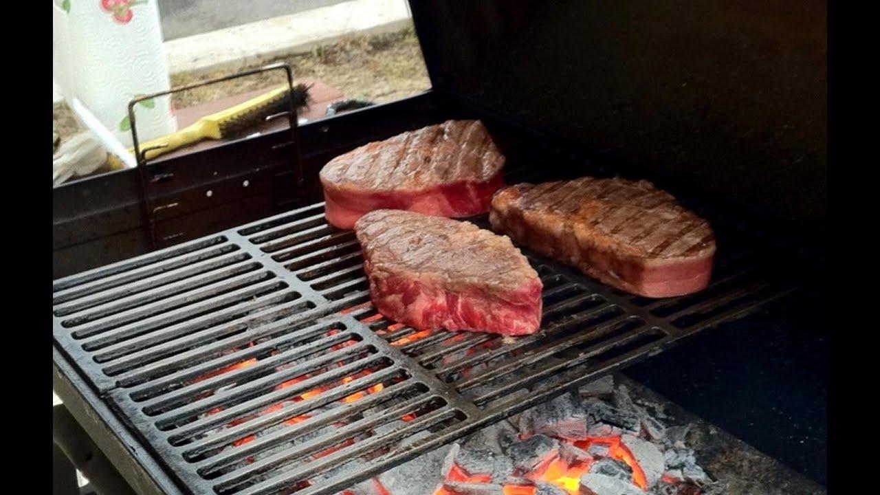 как приготовить стейк из говядины на газовом гриле