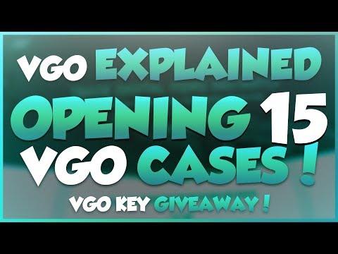 VGO EXPLAINED + OPENING 15 VGO CASES! & VGO Key GIVEAWAY!