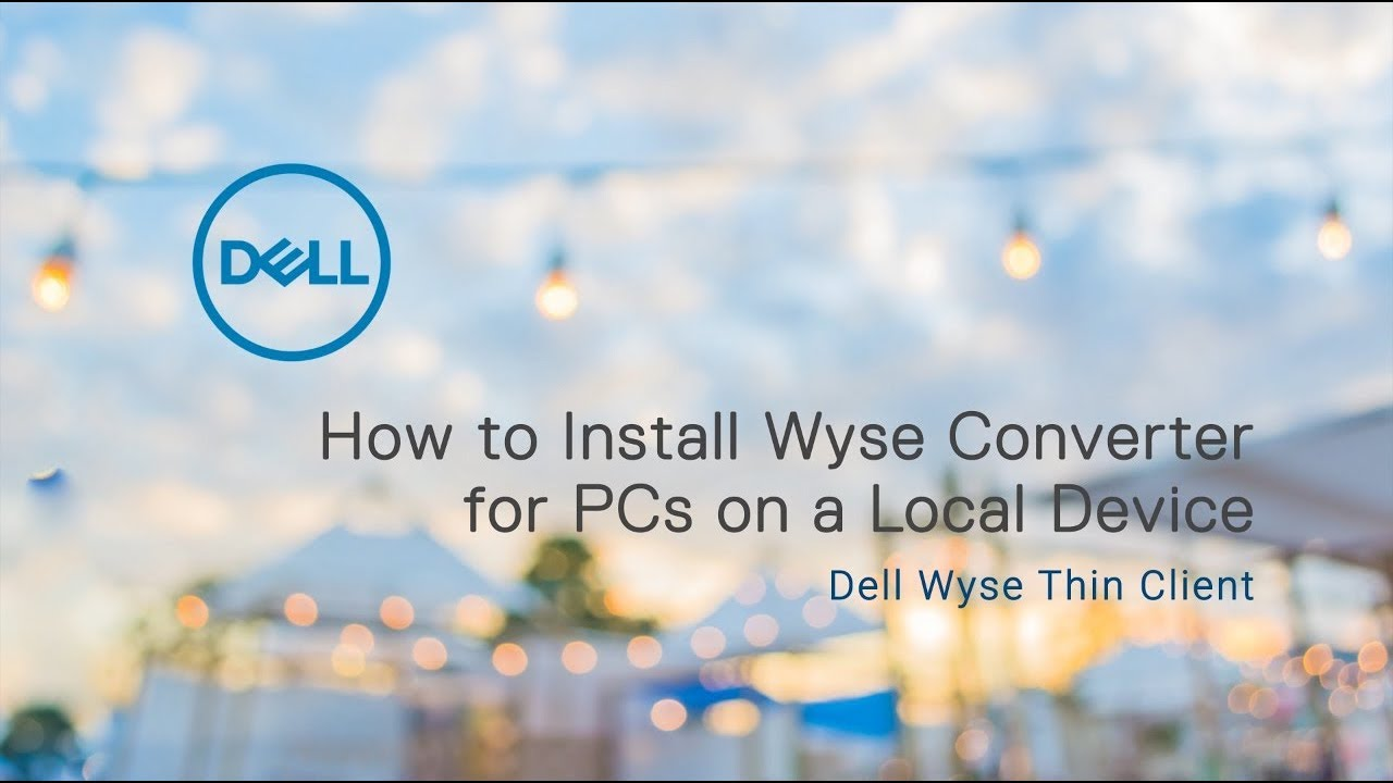 Installing Wyse Converter for PCs on a Local Device