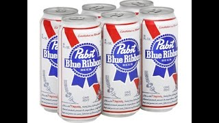 """CHEAP Beer Review : """"PBR"""" Pabst Blue Ribbon (4.74% ABV) (Best Beer In 1893)"""