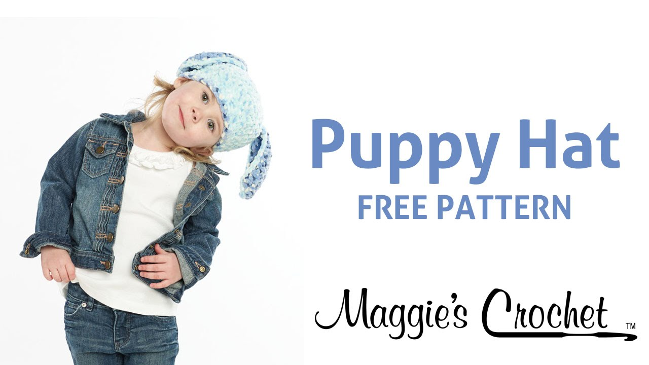 Puppy Hat Free Crochet Pattern - Right Handed - YouTube 4b9d4d40432