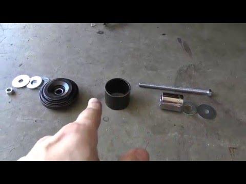 Nizzy gets new knuckle bushings! How to change 370Z rear shock bushings