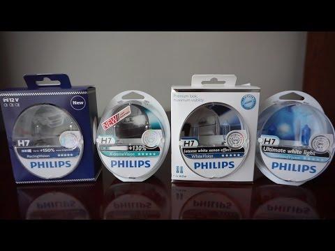 Philips Racing Vision vs X-tremeVision vs WhiteVision vs DiamondVision