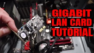 How To Install a Gigabit PCI-E LAN Card Increasing My Internet DOWNLOAD Speed