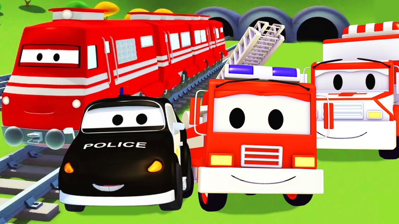 Car City Et La Train Super L'ambulance PoliceAvec À PatrouilleCamion De Le Pompier Voiture FuT1J5lKc3