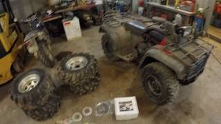 Honda Foreman disk brake install and riding