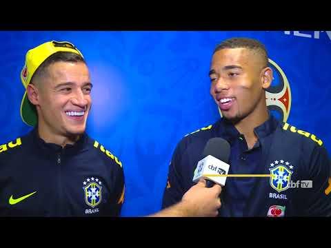 Philippe Coutinho e Gabriel Jesus explicam golaço na vitória contra o Equador
