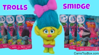 Trolls Smidge Toy Dreamworks Series 3 Blind Bags Opening Names Surprise Toys for Kids Playing