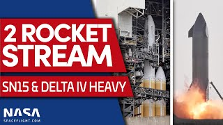 Starship SN15 Static Fire and ULA Launches NROL-82 on Delta IV Heavy