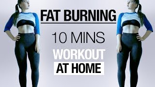 10 min Full Body HIIT Workout | FAT BURNING No Equipment At Home Routine