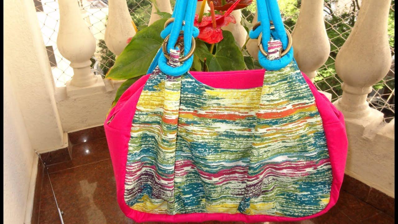 Bolsa De Praia Em Tecido Passo A Passo : Bolsa de tecido roma patchwork maria adna com laura