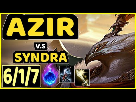 ENVY (AZIR) vs SYNDRA - 6/1/7 KDA MID CHALLENGER GAMEPLAY - BR