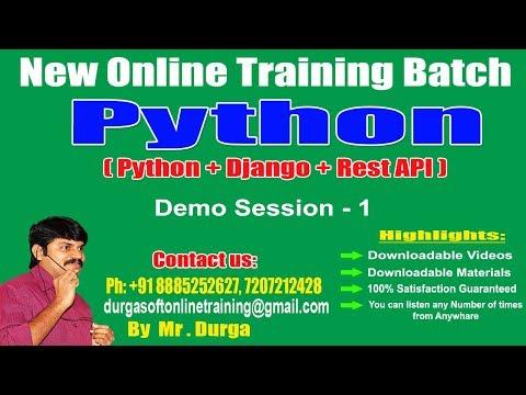 Python Tutorials || Python Online Training || Demo Session - 1|| by Durga Sir thumbnail