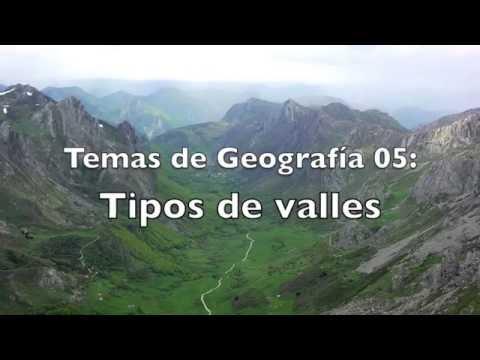 Temas de Geografía 05: Tipos de Valles