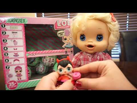 BABY ALIVE Opens 8 LOL SURPRISE DOLLS!