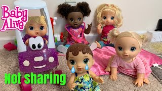 Baby Alive Daycare Routine  Lola Learns to Share