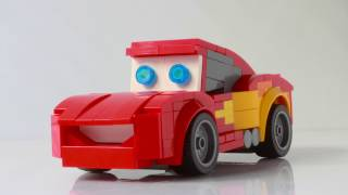 Lightning McQueen from Cars as a Lego Speed Champions car.