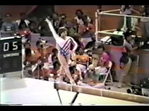 Mary Lou Retton- 1984 Olympics Balance Beam