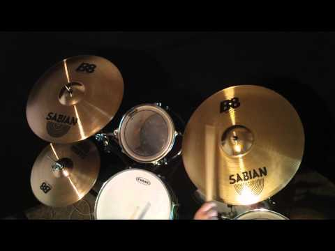 "HD VIDEO Sabian B8 Cymbal Set: 20"" Ride; 18"" Thin Crash; 14"" Hi Hats cymbals demo test sound"