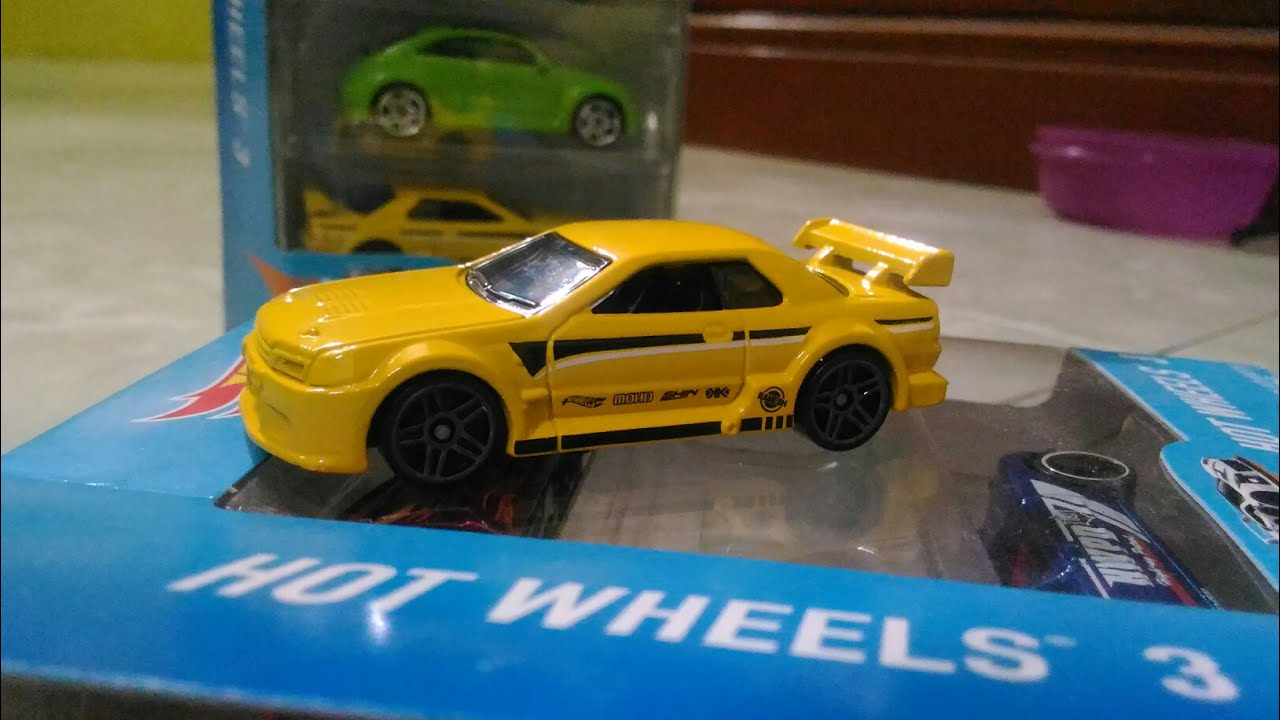 Review Hotwheels Giftpack 3 Nissan Skyline Gtr R32 Yellow Youtube
